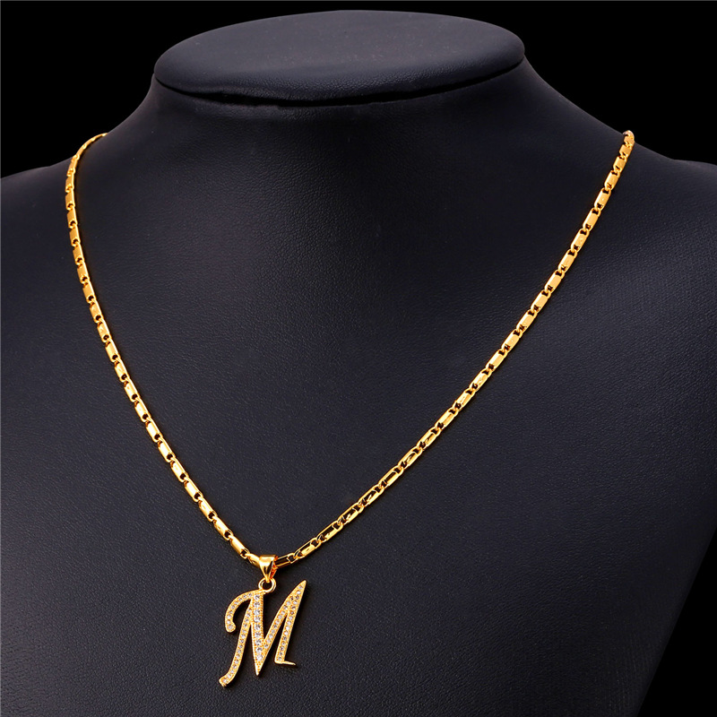Aliexpress buy starlord initial m letter pendants necklaces aliexpress buy starlord initial m letter pendants necklaces for women men personalized gift alphabet jewelry gold color necklace p1683 from reliable aloadofball Image collections