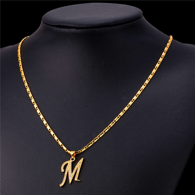 Online shop starlord initial m letter pendants necklaces for women starlord initial m letter pendants necklaces for women men personalized gift alphabet jewelry gold color necklace p1683 mozeypictures Images