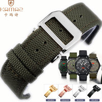 Nylon canvas strap military black military green sport wristwatch strap precision steel buckle accessories High quality nylon