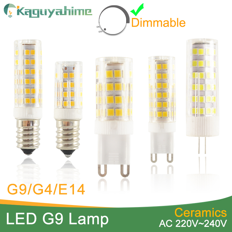 Kaguyahime Ceramic Dimmable Mini LED G9 Light G4 Led Lamp E14 Bulb 220V 12V LED Bulb G9 3W 5W 6W 7W 9W 10W 12W COB SMD 2835 2508