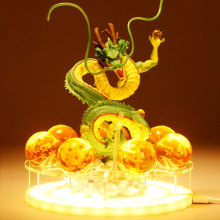 DBZSAIYAN 17cm USB Dragon Ball Shenron Sänglampa Dragon Ball Figur Night Light Shenlong + 7st 3,5cm Bollar + Akrylhylla DBZ