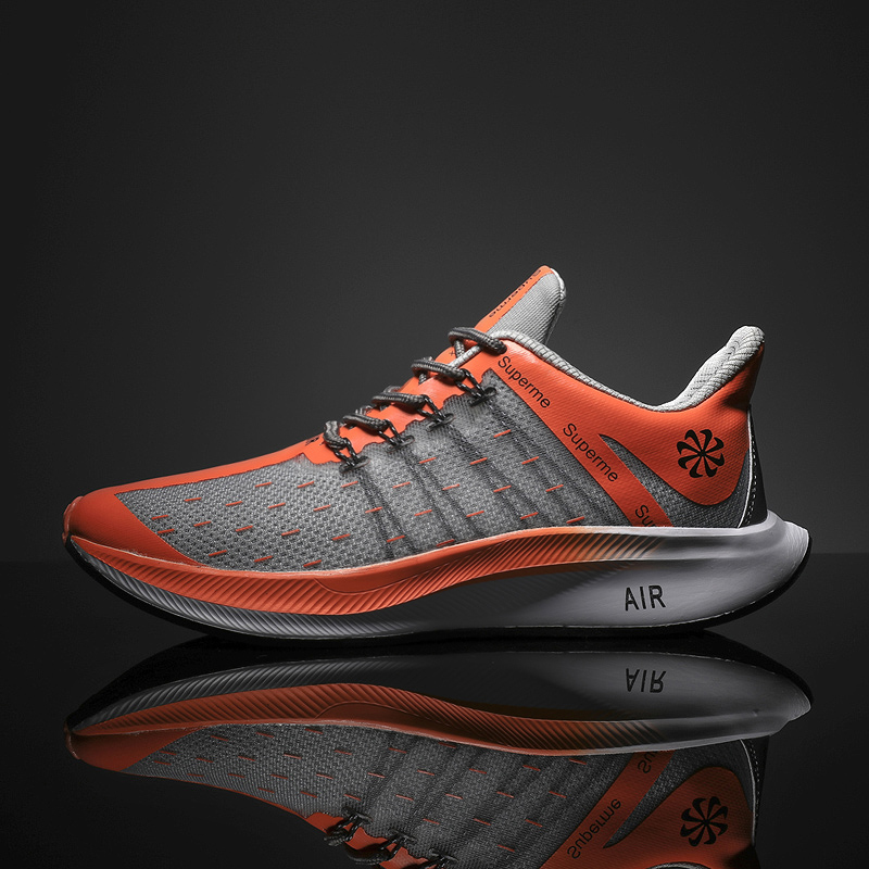 Flyknit Tech Damping Design Men Sneakers Breathable Lightweight and Cushion Daily Wear Sho