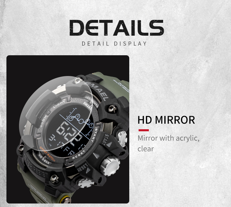 HTB1KDQ1RCzqK1RjSZFLq6An2XXaK Waterproof Chronograph Digital Watch For Men Fashion Outdoor Sport Wristwatch Top Brand SMAEL Men's Watch Alarm Clock