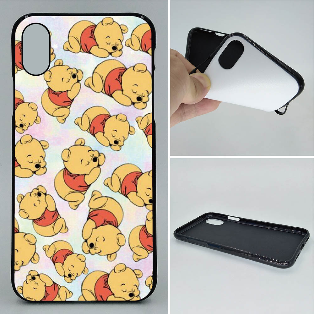 low priced 7217f fe557 US $3.8 |Phone Case For iPhone X XS XR XS Max Cases Winnie Pooh 2D Paiting  Back Silicon Cover For iPhone X Soft TPU Covers-in Half-wrapped Case from  ...