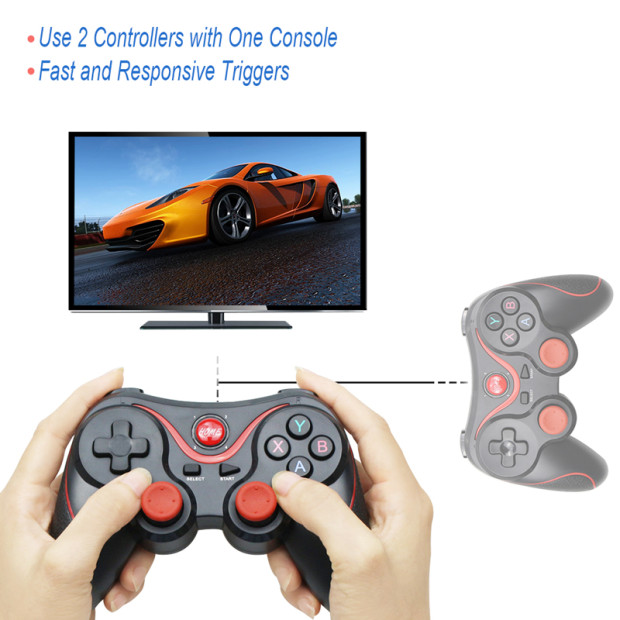 Wholesale Terios T3 X3 Wireless Joystick Gamepad Game Controller bluetooth BT3.0 Joystick For Mobile Phone Tablet TV Box Holder 3