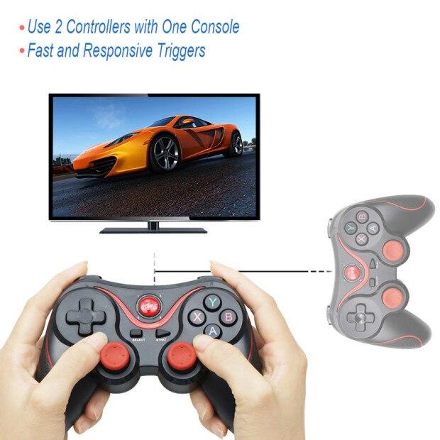 Wholesale Terios T3 X3 Wireless Joystick Gamepad Game Controller bluetooth BT3.0 Joystick For Mobile Phone Tablet TV Box Holder 3