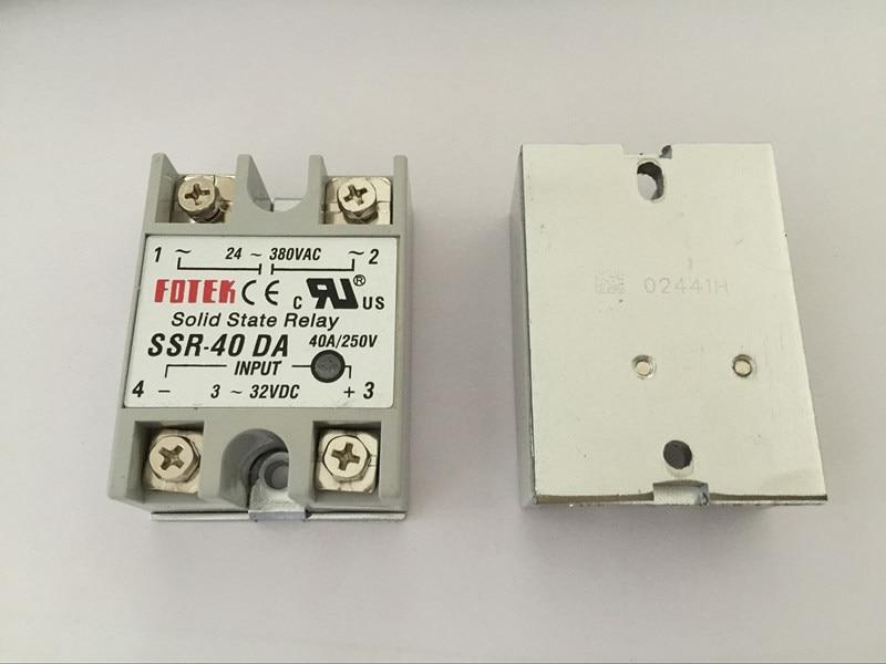 цены 10PCS SSR40DA SSR-40DA Manufacturer 40A ssr relay,input 3-32VDC output 24-380VAC