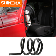 SHINEKA Car Side Door Metal Water Cup Holder Stand Drinks For Jeep Wrangler JL JK 2007-2018 Styling Accessories