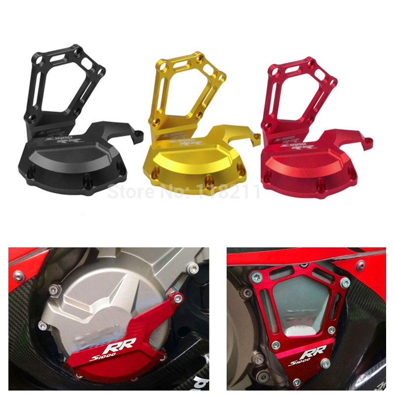 Motorcycle CNC Engine Saver Stator Case Guard Cover Slider Protector For BMW S1000RR 2010-2016 S1000R 2014-2016 HP4 2012-2016 arashi motorcycle radiator grille protective cover grill guard protector for 2008 2009 2010 2011 honda cbr1000rr cbr 1000 rr