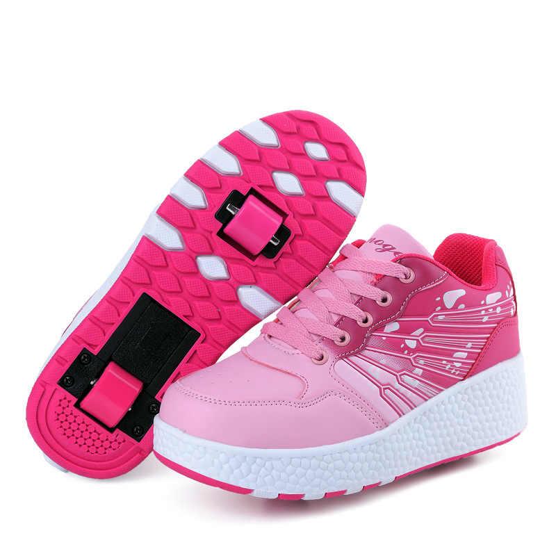 aa7ae498 ... Новые детские роликовые коньки для мальчиков и девочек с автоматическим  Jazzy мигающий Heelies spord Детские кроссовки ...