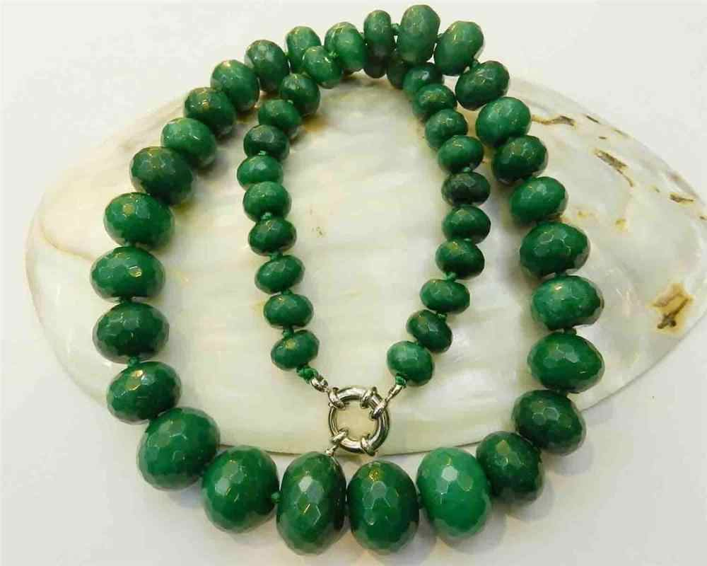 "10-18mm Natural Faceted Gems Roundel Beads Necklace 19 ""WW"