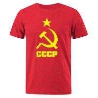 قميص رجالي 2019 الصيف CCCP الروسية تي شيرت الرجال الاتحاد السوفياتي السوفياتي رجل قصير الأكمام التي شيرت موسكو رجالي تيز القطن س الرقبة بلايز