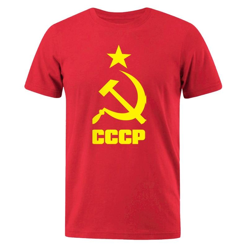Camiseta masculina 2019 verão cccp russo t camisas masculino urss união soviética homem de manga curta tshirt moscou masculino t algodão o pescoço topos