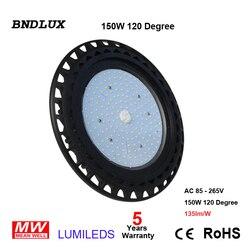 Lámpara LED de campana montaje alto UFO 100w Luz de taller luz industrial blanca fría