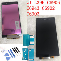 No Dead Pixel 5.0 Original for SONY Z1 Display L39H C6902 C6903 Z1 LCD For SONY Xperia Z1 LCD Display Touch Screen Digitizer