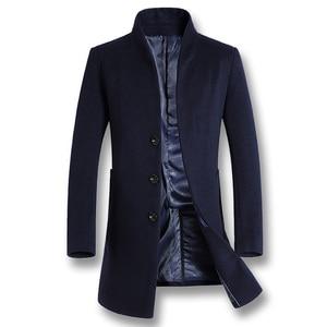 Image 2 - ISurvivor 2020 גברים עסקים מקרית צמר מעילי מעילי Hombre זכר האופנה Slim Fit גודל גדול חורף סתיו מעילי מעיילים