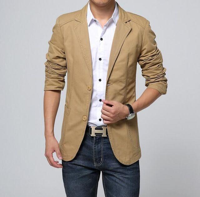 2016 os novos homens cultivar a moralidade terno do lazer terno de algodão