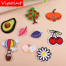 VIPOINT embroidery leaf trees patches cherry badges applique for clothing YX-165