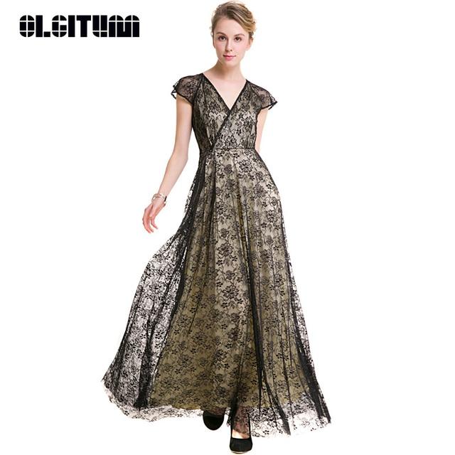 Fleur Longues Cou Élégant HAUTE Imprimer Haute V Taille QUALITÉ Robes Robe OLGITUM Bureau Femmes Femelle pxvIzxB