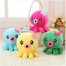 4pcs Super Lovely Mini Octopus Stuffed Doll Plush Toys Soft Kids Marine Toy Best Gift for Children