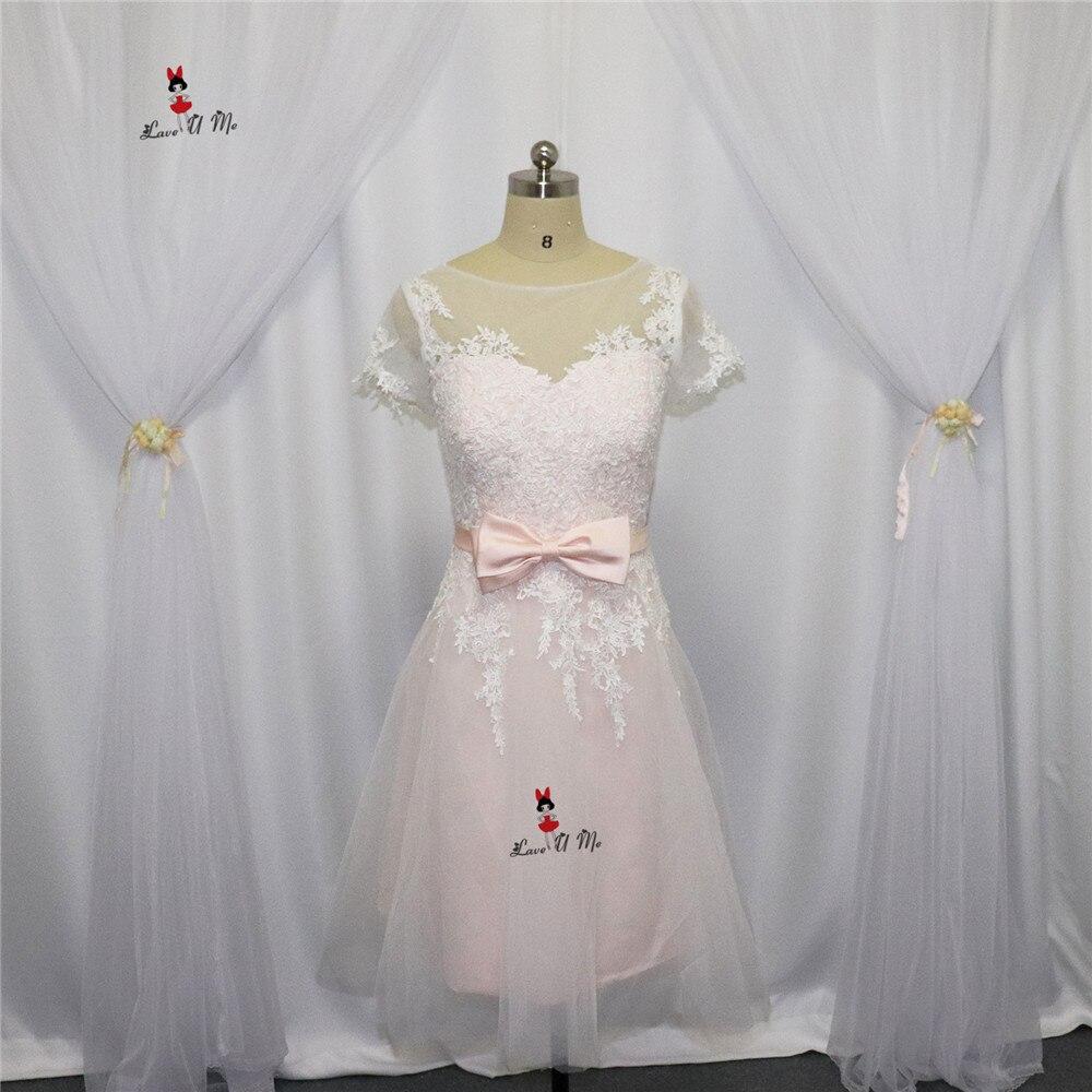 Vestido Casamento Curto Pink Wedding Dress Short Vintage