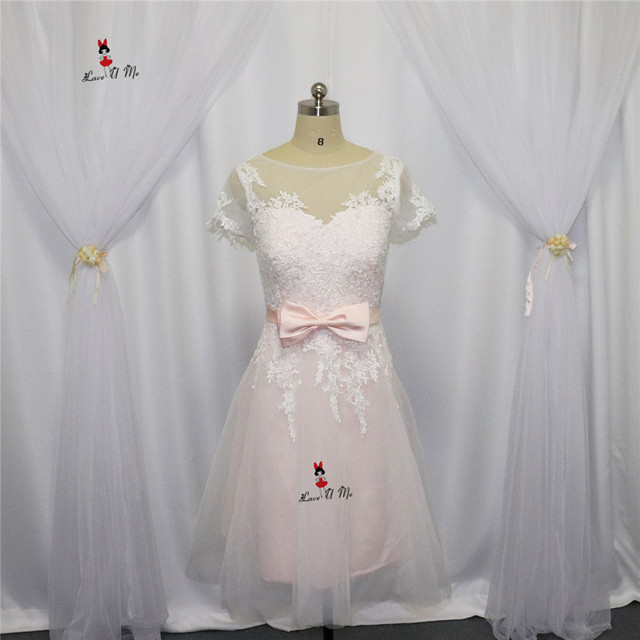 Vestido Casamento Curto Rosa Hochzeitskleid Short Vintage Braut ...
