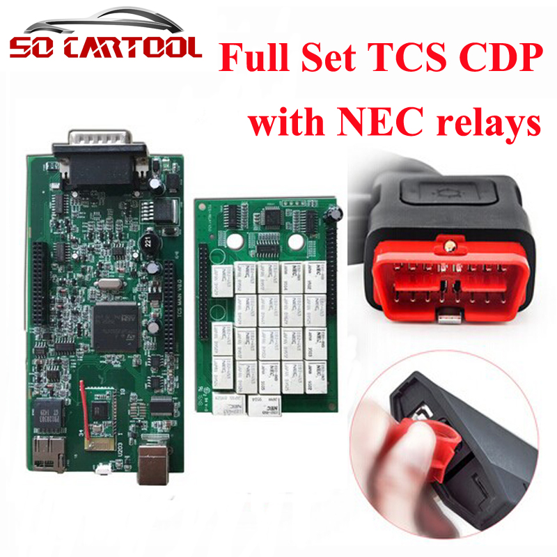 (3pcs/lot) 2014.R2/2015.R3 New vci Without Bluetooth tcs SCANNER TCS CDP Pro Plus For Cars/Trucks +Carton Box by DHL Free new arrival new vci cdp with best chip pcb board 3 0 version vd tcs cdp pro plus bluetooth for obd2 obdii cars and trucks