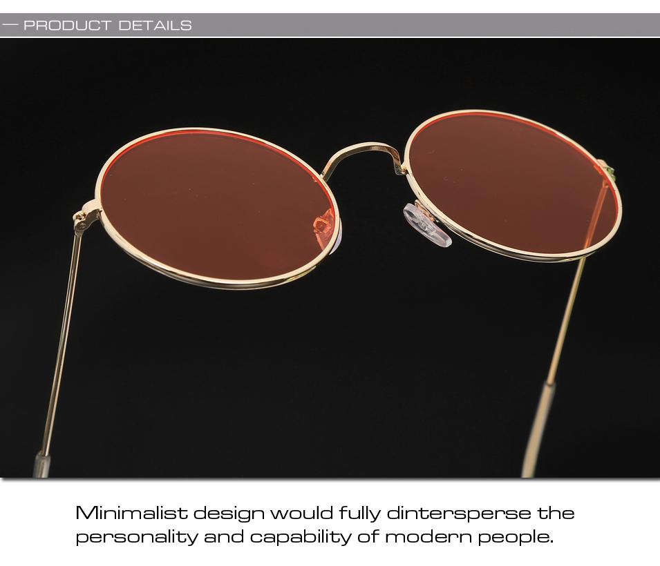 Women's Round Mirror Sunglasses 18