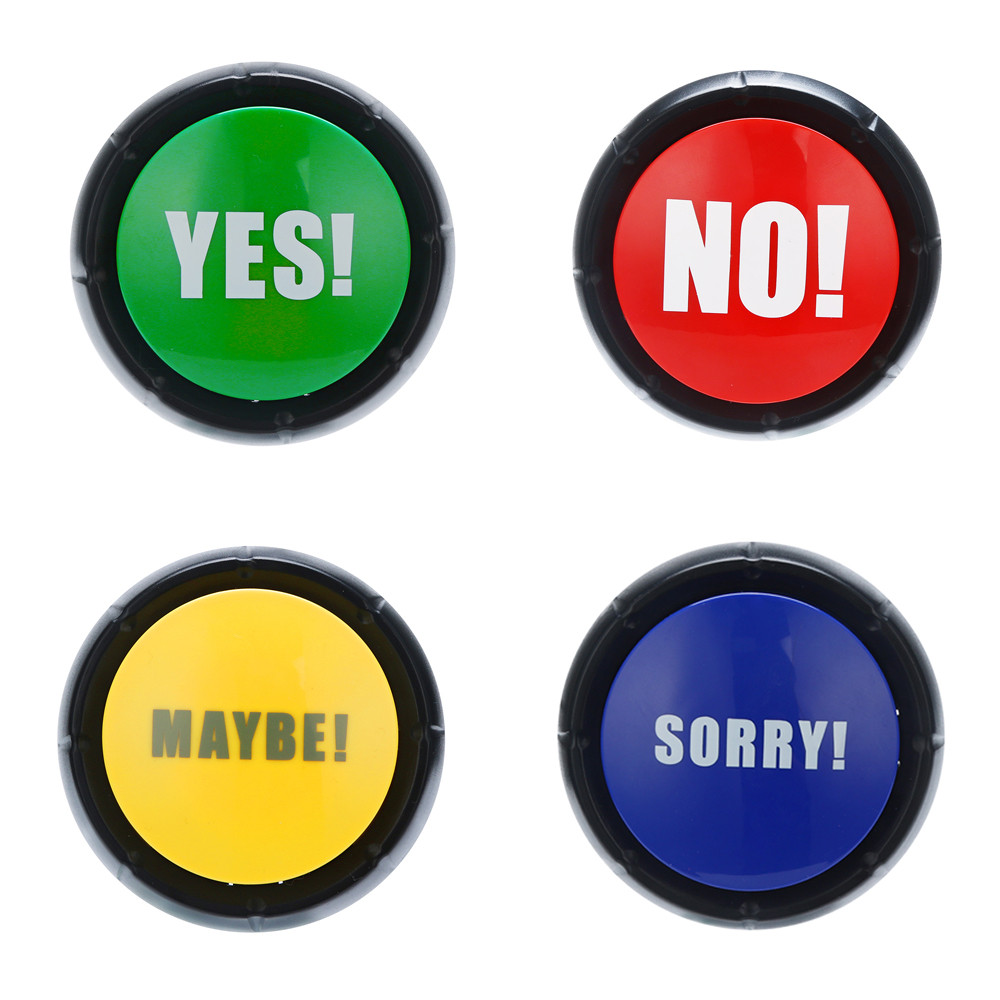 NO YES MAYBE SORRY FART LAUGH Sound Button Music Box Novelty Gag Toy Event Party Tools Supplies Events Supply Holiday Decoration