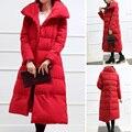 2017 Новых Корейских женщин зимнее пальто длинный участок женский хлопка куртки свободные плюс размер прямо до колен ветровки пиджаки MZ762