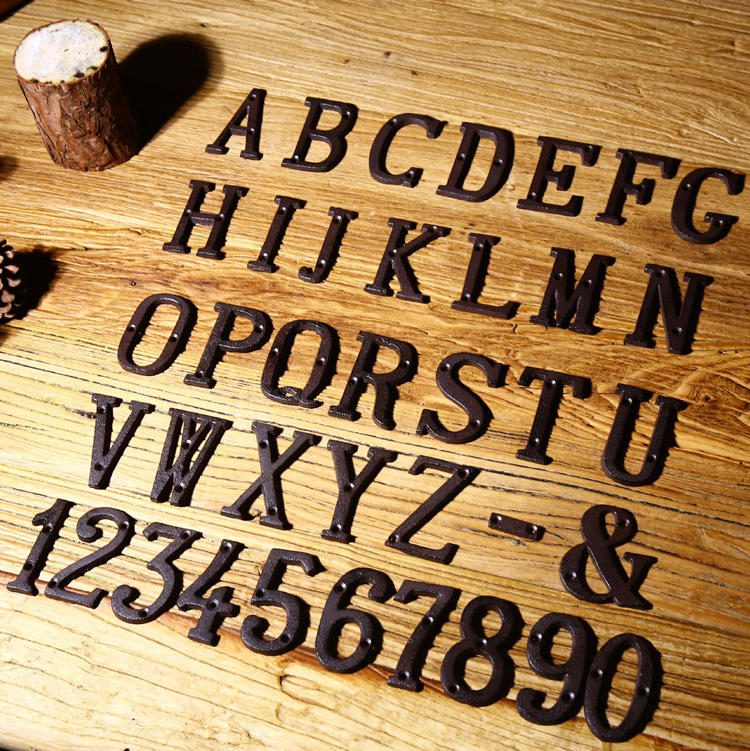Cast Iron Address Letters House Letter House Numbers and Letters ...