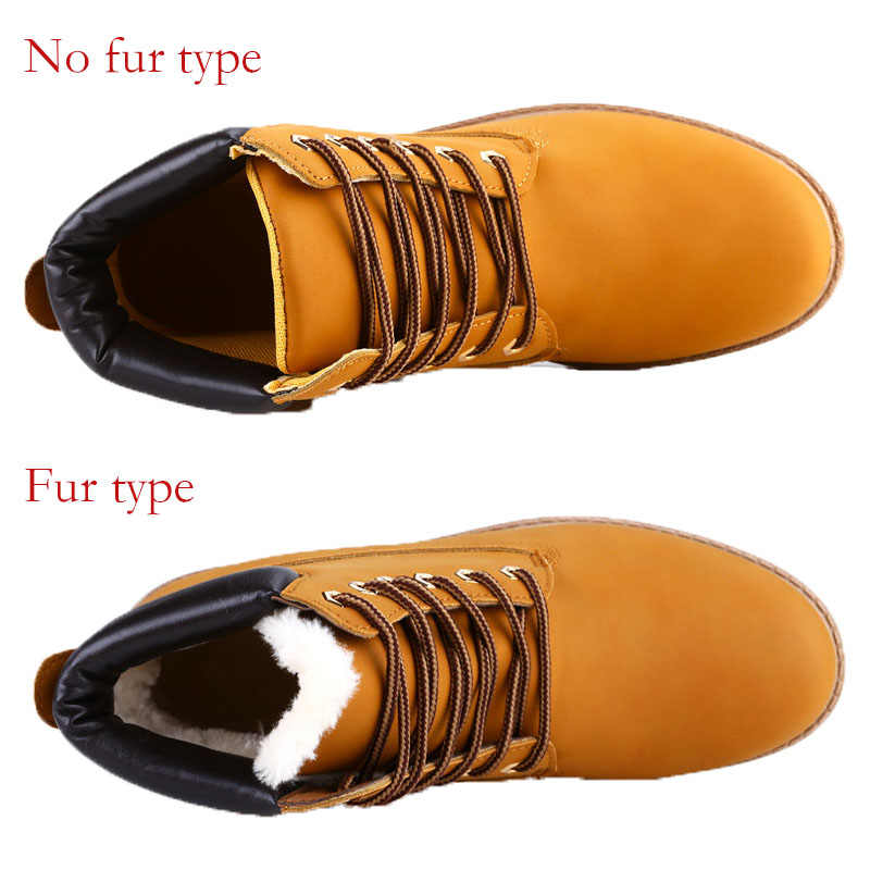 Mannen PU Leer Engeland Stijl Laarzen Lente Herfst Winter Sneeuw Schoenen Mannen Enkellaarsjes Hoge Veiligheid Werkschoenen Mode plus Size
