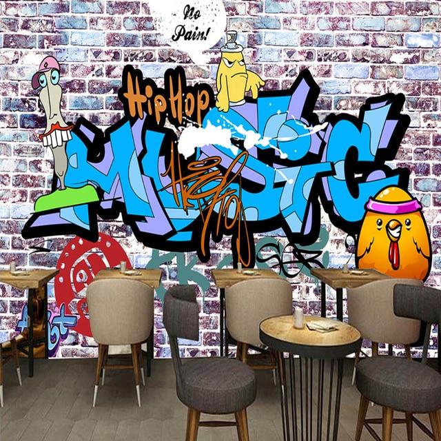 Personalizado pared 3d papel tapiz mural creativo pared de for Murales faciles y creativos