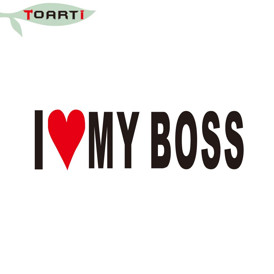 185CM I Love My Boss Sticker Funny Window Joke Vinyl Car Stickers Bumper Hugo Office Printer Styling Accessories In From Automobiles