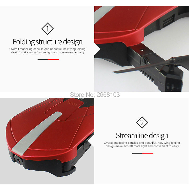 Portable JY018 Mini Selfie Drone Foldable Helicopter Pocket Folding Altitude Hold Headless WIFI FPV Camera RC Quadcopter VS H31 4
