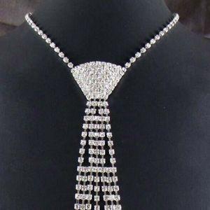Женский винтажный ошейник со стразами, Блестящий галстук-бабочка, ожерелье, модные аксессуары, ZXY9381