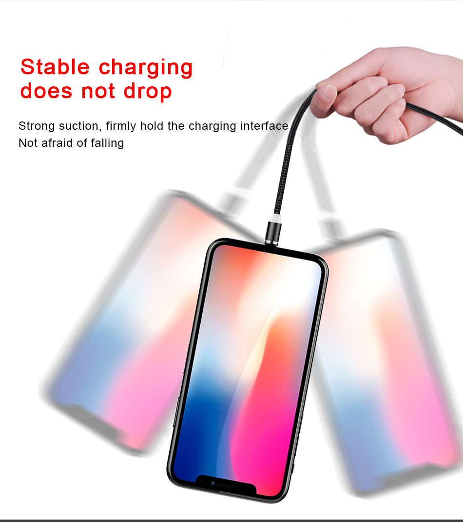 NOHON Strong Magnetic Long Charger Cables 8 Pin For iPhone XS MAX XR X 8 Plus Charging Cable Micro USB Type-C For Samsung S8 2M (9)