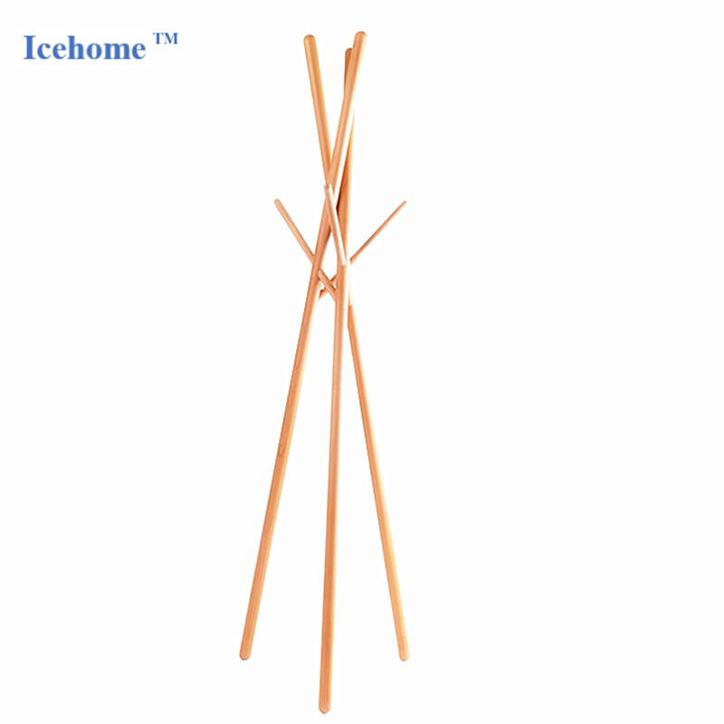Icehome Solid Oak Coat Clothes Rack Standing Entryway Coat Tree Hat Hanger Holder 3 or6 Hooks for Jacket Umbrella Tree Stand
