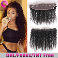 Cheap 7A Peruvian Deep Wave Lace Frontal Closure 13x4 Human Hair Free Middle 3 Way Part Ear To Ear Lace Frontal With Baby Hair