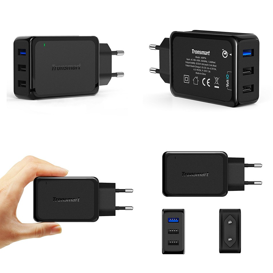 Tronsmart W3PTA USB Charger Qualcomm Certified Quick Charge 3.0 QC3.0 USB Smart Charger 2