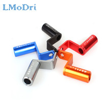 LMoDri-soporte de espejo retrovisor para motocicleta, abrazadera de expansión con agujero, cargador de teléfono, accesorios de Banco de energía