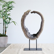 Simple Design Big Polyresin Craft Home Decor Antique Imitation Floor Sculpture Figurine for Living Room