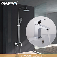 GAPPO Shower Faucets Bathtub Faucets Bath Tub Taps Brass Basin Mixer Taps Waterfall Bathroom Faucet Basin