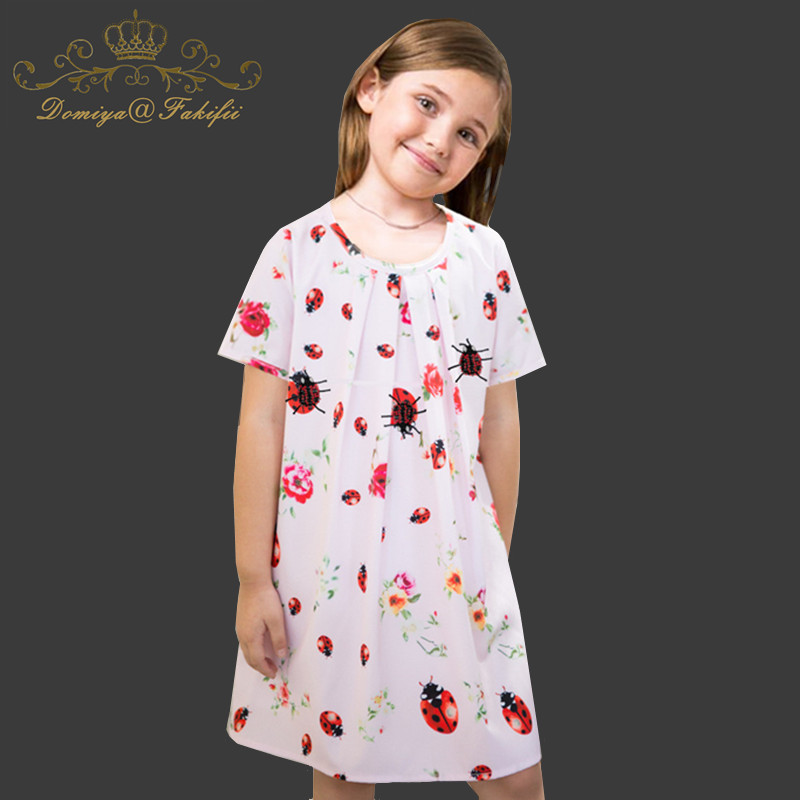 2018 Baby Girls Print Dress For Girls Cute Wedding Party Dresses Kids Princess Christmas Dress Costume Children Girls Clothing baby girls striped dress for girls formal wedding party dresses kids princess children girls clothing