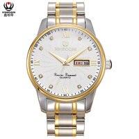 XINBOQIN Men's Quartz Watch Simple Fashion Business Diamond Watches Top Brand Luxury Waterproof Calendar Male Wristwatch Hombre