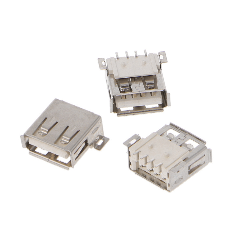 20x Micro SMD USB A Female Socket 4-Pin SMT Type USB-A Connector Female Standard
