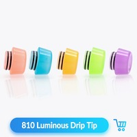 Quartz Banger 50pcs 810 Luminous Drip Tip Resin Wide Bore for Vape RTA RDA Tank Atomizer 810 Mouthpiece E Cigarette Accessories