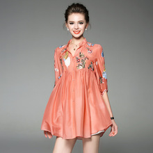 2017 Women Summer Embroidery Tops Plus Size Ruffles Blouses Loose Office Casual Floral Streetwear Beach Ladies Boho Shirts