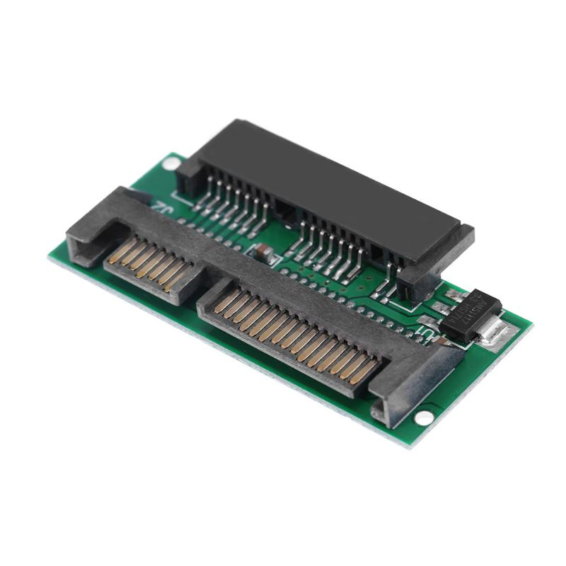 Mini 1.8inch 16Pin Micro SATA Female to 2.5inch 22(7+15)Pin SATA Male Adapter Card for Converting 1.8inch SSD to 2.5inch SSD