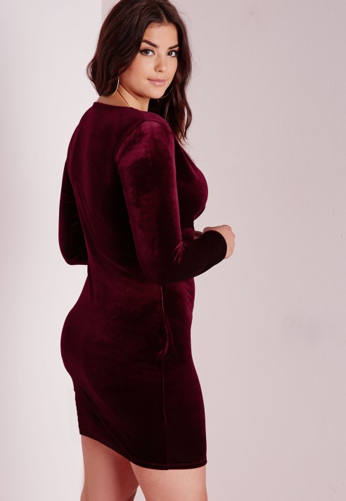 2016 winter mini dress warm non inverted velvet women sexy v neck ... 5b4bfc9981dc